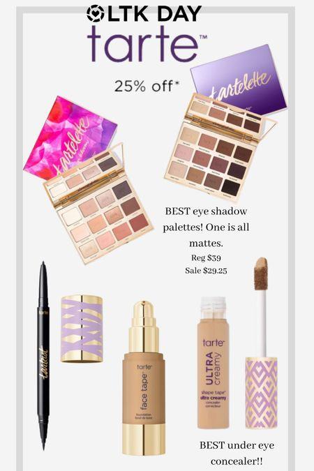 Tarte is 25% off for LTK day! I linked my personal favorites. The makeup palettes are my go to!   #LTKbeauty #LTKDay #LTKsalealert