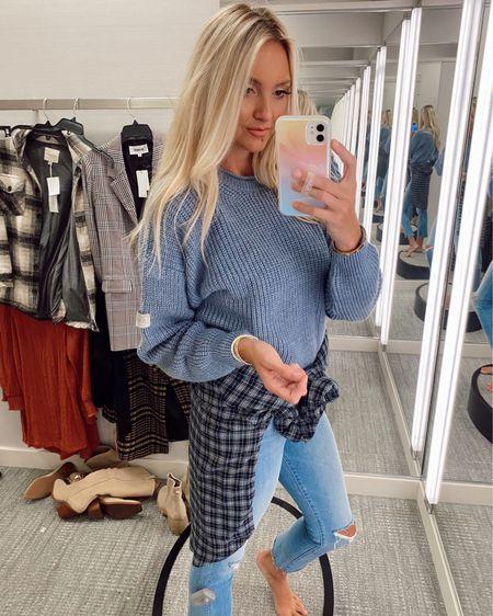 Softest blue sweater and plaid oversized flannel in the Nordstrom Sale  http://liketk.it/3jGWk #liketkit @liketoknow.it #LTKsalealert