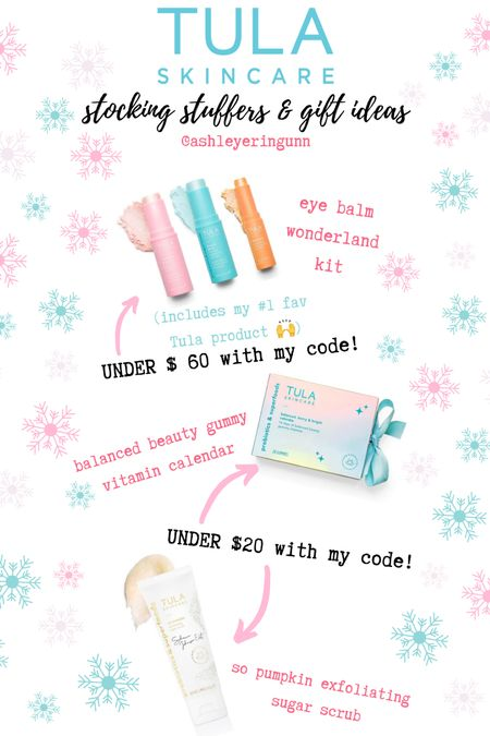 Use code ASHGUNN for 15% off!! Looking for some last minute stocking stuffers or gift ideas?! Or maybe you should just TREAT yourself. Here are some of my fav finds and holiday specials from Tula. 🙌💘  #LTKsalealert #LTKbeauty #LTKgiftspo