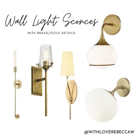 http://liketk.it/32mND #liketkit @liketoknow.it wall sconces to love!! With brass/gold details