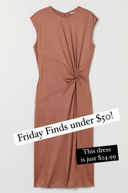 Friday Fall Finds under $50 this knot front dress is just 24.99  #LTKunder50 #LTKSeasonal #LTKunder100