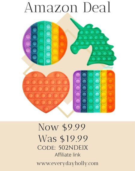 Amazon deal! 🎁🎄 1500 - 5 star ⭐️ reviews  4 Pack Silicone Squeeze Sensory Toys 50% off Code: 502NDEIX Gifts for kids  #LTKunder50 #LTKGiftGuide #LTKsalealert