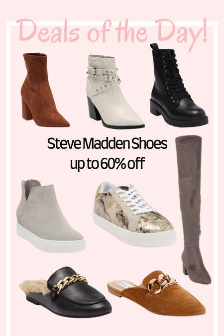 Up to 60% off these Steve Madden shoes! 🚨  #LTKunder100 #LTKsalealert #LTKshoecrush
