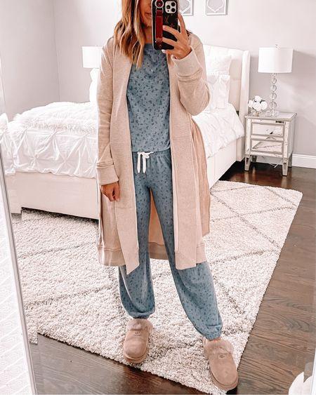 UGG robe from Nordstrom sale. Super soft pajamas. Wearing size small pjs and robe   #LTKunder100 #LTKfit #LTKsalealert