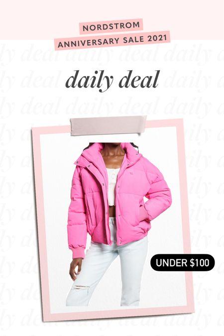 puffer jacket 💗 #liketkit @liketoknow.it http://liketk.it/3jUrB #LTKsalealert #LTKunder100
