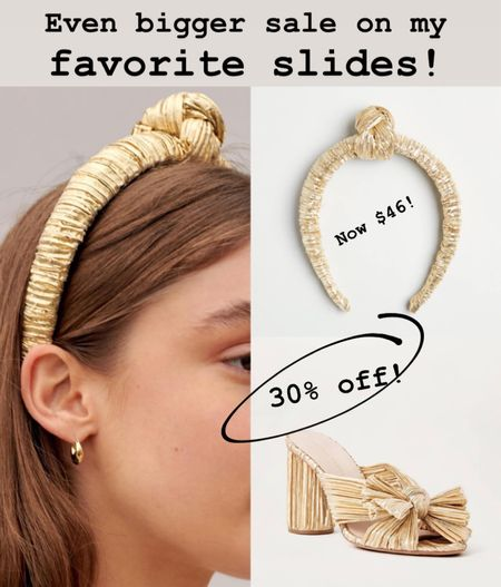 The slides I had last season in silver are now on 30% OFF!!! Just got the gold ones for the new season - and the headband to match ☺️   #StayHomeWithLTK #LTKunder100 #LTKsalealert