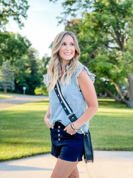 Chambray blouse and distressed black denim paired with one of my favorite bag straps from Amazon.    http://liketk.it/3hIEN #LTKitbag #LTKstyletip #LTKunder100 #liketkit @liketoknow.it