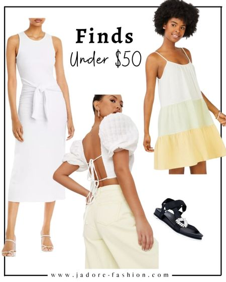 Summer finds under $50: summer dress, tops and sandals   #LTKshoecrush #LTKunder50 #LTKSeasonal