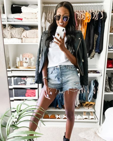 From day to night with the cutest leather jacket!! 🖤  #LTKstyletip #rStheCon #LTKshoecrush