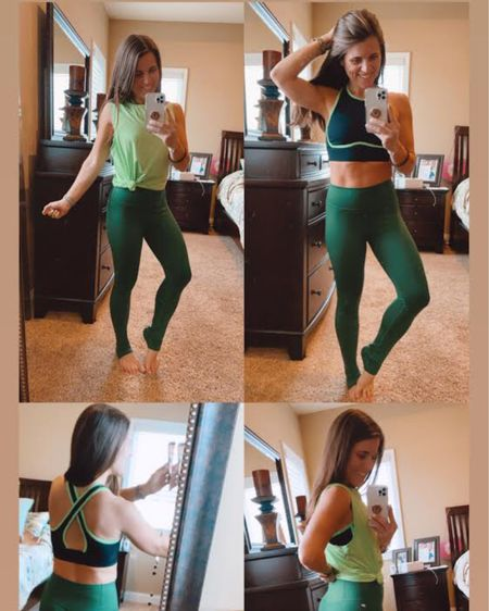 I am loving these green leggings, green workout top and black and green sports bra from Fabletics! Everything fits true to size and the leggings are thick and are squat-proof! This is such a cute springy workout outfit that can handle my high intensity workouts! I also linked my phone case and leopard cheetah Apple Watch band! Click here to shop this outfit now! http://liketk.it/3a24d #liketkit @liketoknow.it #LTKstyletip #LTKfit #StayHomeWithLTK Follow me on the LIKEtoKNOW.it shopping app to get the product details for this look and others
