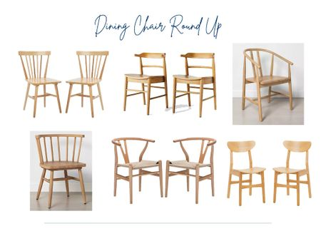 Look at these affordable natural wood dining chairs in our round up!  Dining chairs, light wood, blonde wood chairs, dining room chairs, home decor finds  #LTKhome