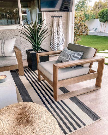 Outdoor patio furniture Home decor Patio furniture  West elm    #LTKhome #LTKfamily #LTKstyletip