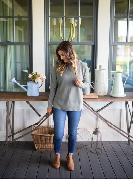 Casual fall outfit with this $12 sweatshirt   #LTKSeasonal #LTKstyletip #LTKunder50
