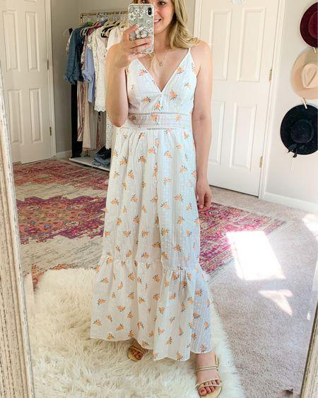 Summer dress eyelit white dress floral dress maxi dress beach dress amazon dress high quality  Beach dress  Vacation dress outfit   #LTKunder50 #LTKsalealert #LTKstyletip