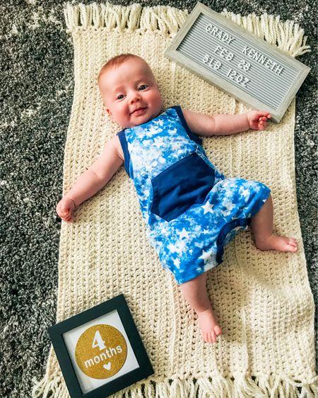 Baby boy summer jumper! Trendy tie dye and stars. 2pk for $15 http://liketk.it/3iH8I #liketkit @liketoknow.it #LTKbaby #LTKfamily #LTKunder50