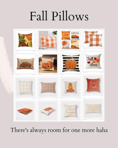 Fall is here so that means pillows!!   #LTKSeasonal #LTKunder50 #LTKhome