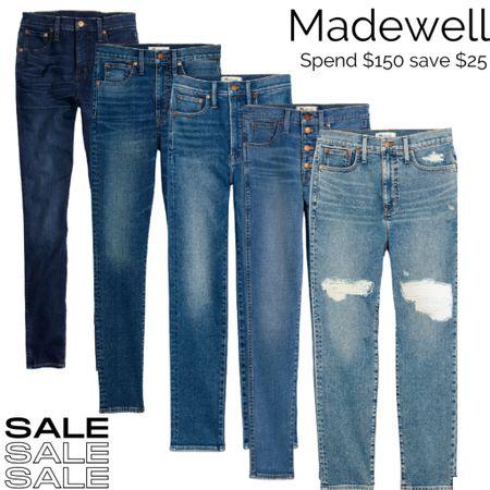 Save at Madewell during the LTK Sale!  Bonus: all of these jeans come in regular and petite sizes!  Denim : Jeans  #LTKunder100 #LTKSale #LTKsalealert