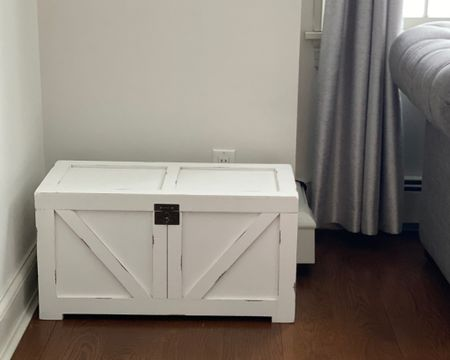 I just got this chest as a accent for my living room. I actually use it to store a few things but could also be great for something like blankets and pillows. In addition to the white it comes in gray and rustic brown. #liketkit @liketoknow.it http://liketk.it/383wz #LTKhome Screenshot this pic to get shoppable product details with the LIKEtoKNOW.it shopping app