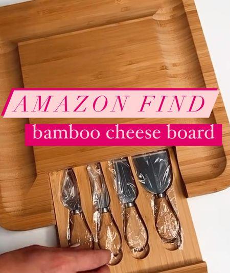 This is such a fun #amazonfind 🧀🍷💁🏻♀️  . . . #amazonfinds #amazon #amazonfood #kitchen #sale #deals #cheeseboard   #LTKGiftGuide #LTKSeasonal #LTKsalealert