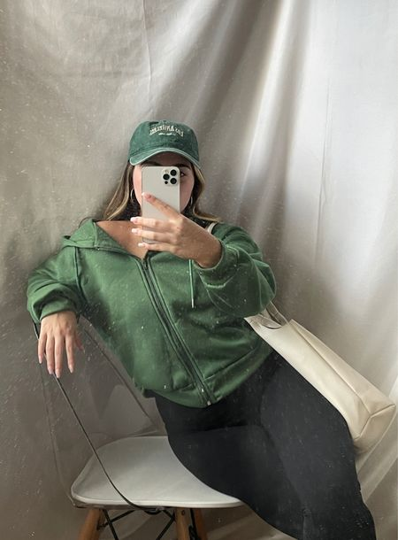 green toned back to school college outfit ideas!   #LTKstyletip #LTKunder50 #LTKbacktoschool