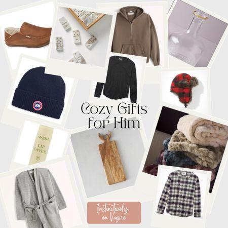 Gift guide for him, cozy gifts, Christmas   #LTKGiftGuide #LTKunder100 #LTKHoliday