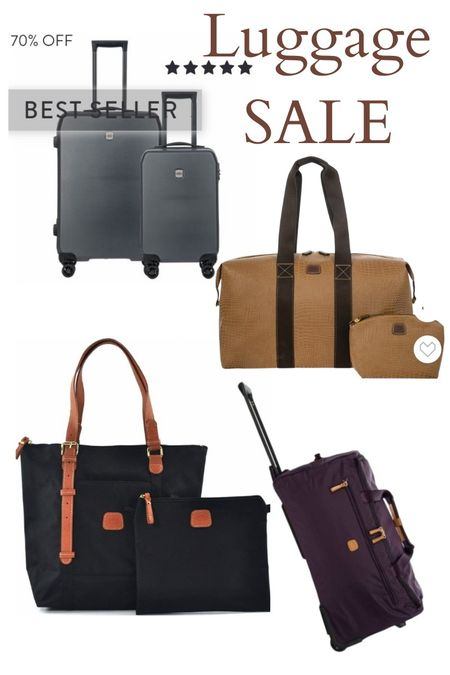 Big luxury luggage sale at Bric's.  Some pieces are 50% and 70% off.  Yes, we got ours too.   #travel #brics #bricsluggage #luxuryluggage #vacation #luggage #carryonluggage #dufflebags #carryon  #ltktravel