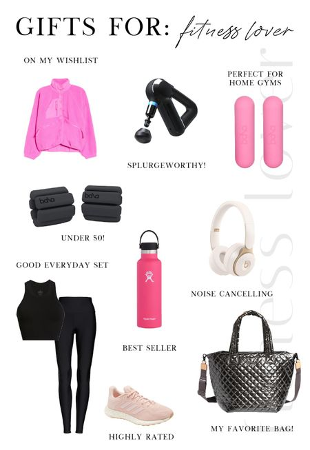 Holiday Gift Guide ❄️ For the Fitness Lovers   Workout wear, Activewear, Balas, exercise equipment, MZ Wallace tote, Nordstrom, headphones, workout set, water bottle, gift guide   #LTKfit #LTKunder100 #LTKGiftGuide