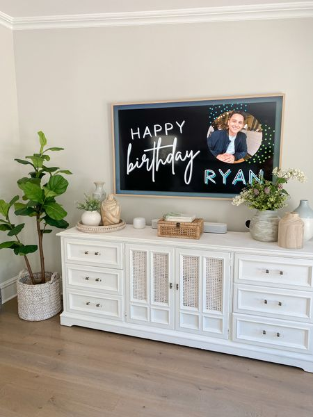 """Another reason to love an art TV! I made this cute custom birthday message on Canva and was able to upload it as """"art"""" to my TV for a fun birthday surprise 🥳     #LTKhome"""