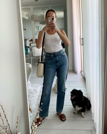 Casual in jeans and a white tank   #LTKstyletip