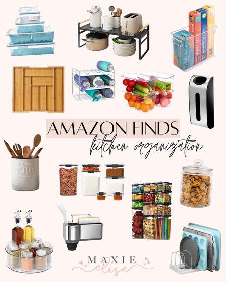Kitchen Organization Finds From Amazon 🙌🏼  #amazonfinds #kitchenorganization #amazonhome #amazonorganization #amazonkitchenorganization #kitchen #kitchenorganizationandstorage  #LTKhome #LTKunder50 #LTKunder100