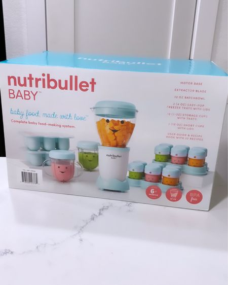Making our own baby food when the time comes so we know exactly what's in it! We went with the nutribullet baby food prep system! http://liketk.it/37Lh9 #liketkit @liketoknow.it #LTKbaby #LTKfamily #LTKhome