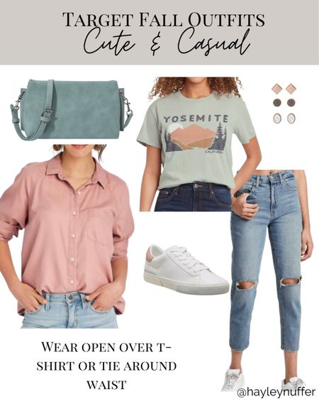 This cute and casual fall outfit from target is perfect to transition from summer to fall. So many versatile pieces!    #LTKunder50 #LTKstyletip #LTKSeasonal