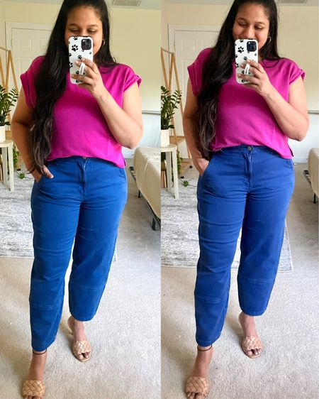 http://liketk.it/3fdlO #liketkit @liketoknow.it #LTKworkwear #LTKtravel #LTKunder50 Everlane utility pant, blue pants, pink tee, lou and grey tee, summer style, summer fashion, express quilted sandals, utility pant, workwear, beachwear, summer vacation style #ltkseasonal #competition