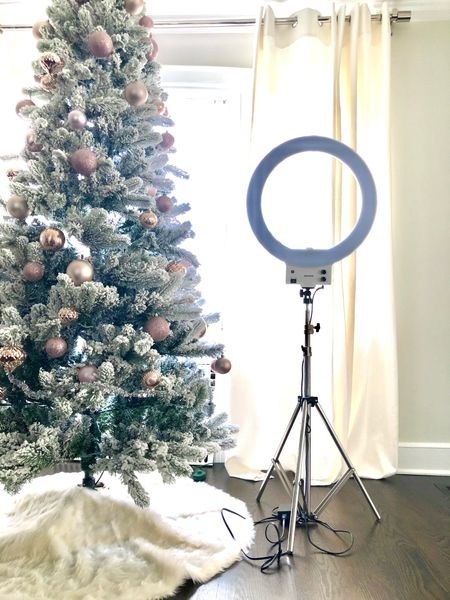 If you're working from home, and especially if you're a digital content creator, a ring light is a must. Love this one: adjustable brightness and color tone, cell phone holder, and remote control. Also love the chrome legs that go well with my decor. 😉✨✨  #LTKhome #LTKgiftspo #StayHomeWithLTK