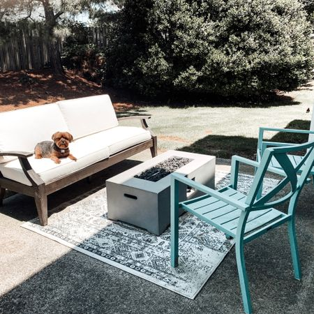 Outdoor patio decor for summer. Pottery Barn Chatham Grand Sofa. Rectangular Fire Pit by Target.   Shop this pic below. Follow @lindseyandcoco on @liketoknow.it  to never miss a deal or a sale. So glad you're here.    http://liketk.it/3fQXB #liketkit #LTKfamily #LTKhome #LTKstyletip @liketoknow.it.home