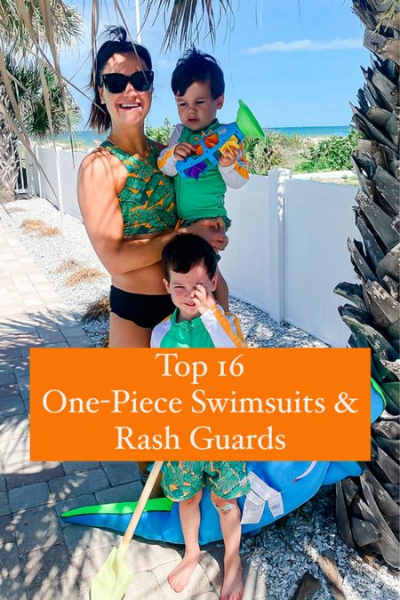 One-Piece Swimsuit & Rash Guards 🤩 Cute mommy and son matching swimsuit 💚 Use code MLWL15 for 15% off our swimsuit! http://liketk.it/3h4VZ #liketkit @liketoknow.it #LTKkids #LTKswim #LTKunder100