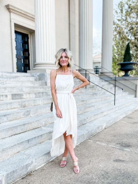 This gorgeous dress is on sale this weekend! Also comes in another color, which would be great for a wedding guest dress.   #LTKsalealert #LTKwedding #LTKDay