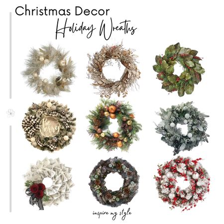 Christmas decor for your holiday home. Beautiful Christmas wreaths for so many styles and price points. https://inspiremystyle.com/christmas-wreath-ideas-for-your-holiday-home/ #christmaswreath #christmasdecor #holidaydecor #etsy #target #wayfair #overstock #LTKhome #liketkit @liketoknow.it.home @liketoknow.it Download the LIKEtoKNOW.it app to shop this pic via screenshot http://liketk.it/2Zm20