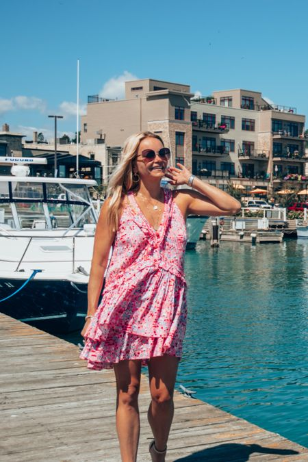 Sill summer. Poupette St Barth ruffle dress is so cute and perfect for the end-of-summer travel to the beach or lake vacay. Wear for cocktails, dinner or poolside lunch.   #LTKstyletip #LTKSeasonal #LTKtravel