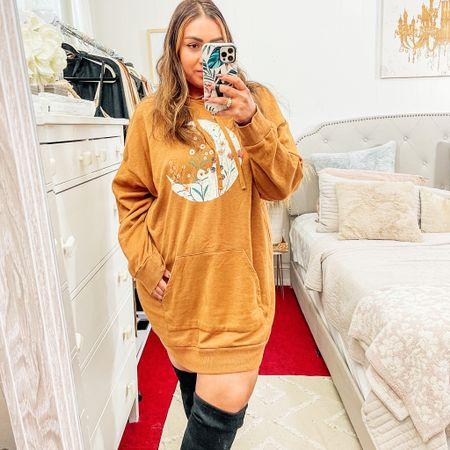 Sweatshirt or sweatshirt dress?   #LTKfit #LTKcurves #LTKstyletip