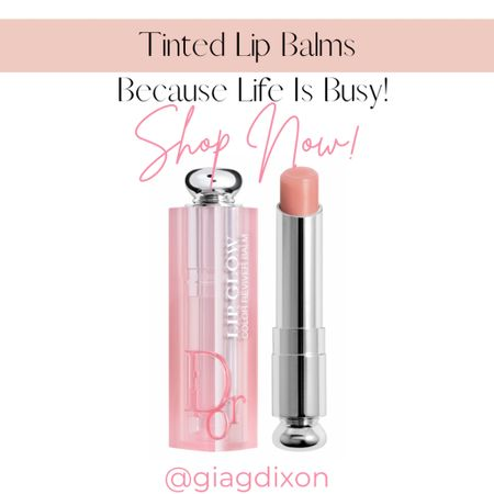 Tinted lip balms you can't go wrong with because life gets busy.  #LTKunder50 #LTKbeauty #LTKstyletip