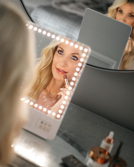 My all-time favorite lighted make-up mirror ever is part of the NSALE! It has 3 light settings and I honestly can't do my makeup without it!!  I linked this mirror plus tons of other amazing beauty products all part of the NSALE! @liketoknow.it #liketkit http://liketk.it/3k6z7 #LTKunder100 #LTKsalealert #LTKbeauty Shop my daily looks by following me on the LIKEtoKNOW.it shopping app
