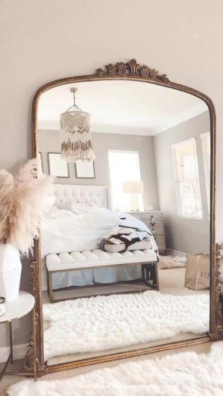 Master bedroom, master bedroom decor, home decor, neutral home decor, neutral bedroom style, Anthropologie mirror, StylinByAylinHome   #LTKstyletip #LTKhome #LTKunder100