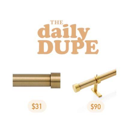 Curtain Rod, Daily Dupe, Home Decor, Save vs Splurge http://liketk.it/3jOuj #liketkit @liketoknow.it