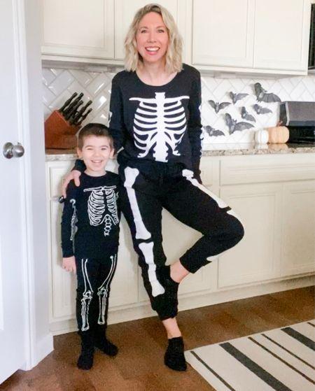 Halloween pajamas for the family           Skeleton pajamas , skeleton pjs , halloween , halloween pajamas , halloween decor , matching family pajamas , family pjs #ltkkids #ltkmens old navy , target style , amazon fashion , amazon finds , target finds #ltkunder50  #LTKfamily #LTKkids #LTKHoliday