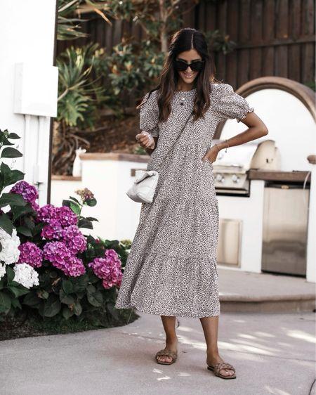 Amazon dress, amazon style, maxi dress, casual style, sandals, YSL crossbody, StylinByAylin   #LTKstyletip #LTKunder100 #LTKunder50