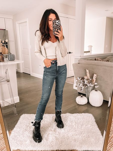 Abercrombie style Doc Martens Chunky boots   #LTKSeasonal #LTKstyletip #LTKshoecrush