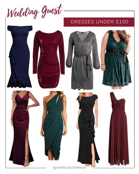 Wedding guest dresses for under $100!   Holiday dresses Amazon fashion Wedding guest dress  #LTKwedding #LTKHoliday #LTKstyletip