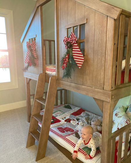 Best bunk bed, cabin bed ever. My kids love it. These are the best chriastmas quilts, sheets and shams. http://liketk.it/34kYB #liketkit @liketoknow.it #LTKbaby #LTKkids #LTKhome @liketoknow.it.home Shop your screenshot of this pic with the LIKEtoKNOW.it shopping app