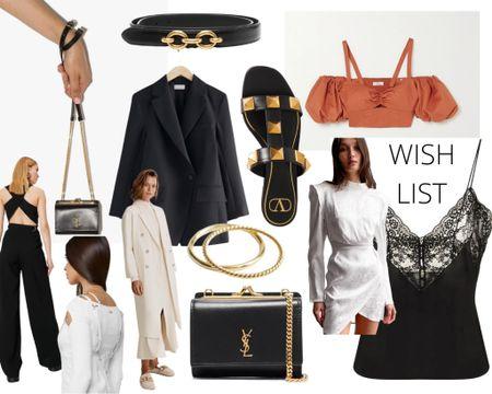 Wishlist ~ chain detail belt, wrap dress, linen bralet, wide leg pants, slides, cami    http://liketk.it/3hEUN #liketkit @liketoknow.it #LTKstyletip #LTKshoecrush #LTKworkwear @liketoknow.it.europe @liketoknow.it.australia Shop your screenshot of this pic with the LIKEtoKNOW.it shopping app